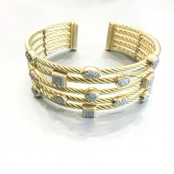 4cc1d9829 David Yurman Jewelry   18k Gold 1 Confetti Diamond Bracelet   Poshmark